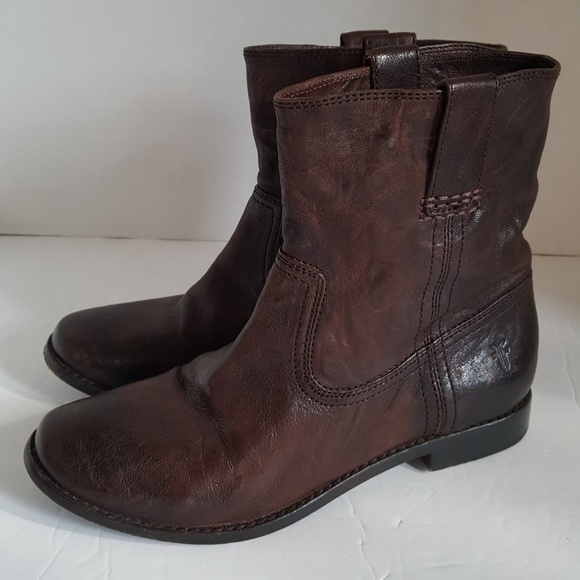 Frye Shoes - Frye Women's Brown Distressed Leather Ankle Boots